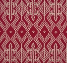 SCHUMACHER ASAKA IKAT ETHNIC CHIC FABRIC RED