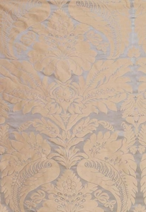 SCHUMACHER BENNET SILK DEMASK FABRIC MINERAL