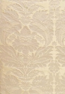 SCHUMACHER BENNET SILK DEMASK FABRIC PLATINUM