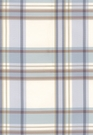 SCHUMACHER BIRMINGHAM SILK PLAID FABRIC COAST