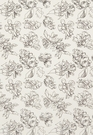 SCHUMACHER BLOSSOM COTTON FLORAL FABRIC BLACK