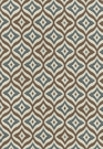 SCHUMACHER BOHEMIAN RHAPSODY COTTON FABRIC COCOA & BLUE