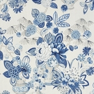 SCHUMACHER BOUQUET CHINOIS LINEN FABRIC PORCELAIN