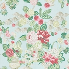 SCHUMACHER BOUQUET CHINOIS LINEN FABRIC SKY