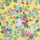 SCHUMACHER BOUQUET CHINOIS LINEN FABRIC YELLOW