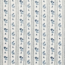 SCHUMACHER CABANON STRIPE FABRIC BLEU