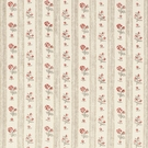 SCHUMACHER CABANON STRIPE FABRIC ROUGE