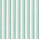 SCHUMACHER CAPRI STRIPES FABRIC AQUA WHITE
