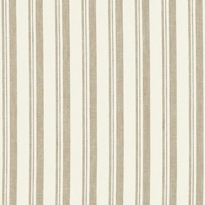 SCHUMACHER CAPRI STRIPES FABRIC BEIGE WHITE