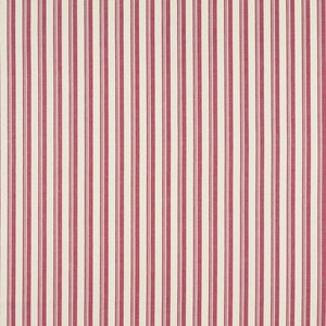 SCHUMACHER CAPRI STRIPES FABRIC RED WHITE