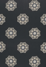 SCHUMACHER CHENNAI LINEN EMBROIDERY FABRIC MIDNIGHT