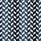 SCHUMACHER CHEVRON STRIE VELVET FABRIC LAPIS