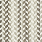SCHUMACHER CHEVRON STRIE VELVET FABRIC STONE