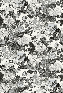 SCHUMACHER CHIANG MAI DRAGON FABRIC SMOKE