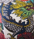 SCHUMACHER CHINOISERIE CHIANG MAI DRAGON FABRIC ALABASTER