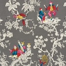 SCHUMACHER CHINOISERIE MODERNE FABRIC GRAPHITE