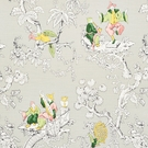 SCHUMACHER CHINOISERIE MODERNE FABRIC SOFT GREY
