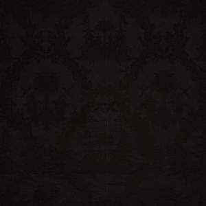 SCHUMACHER CHINOISERIE ROYALE LINEN FABRIC BLACK