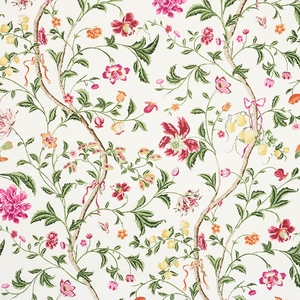 SCHUMACHER CITRONIER COTTON FABRIC FUCHSIA