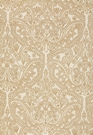 SCHUMACHER CLAREMONT CREWEL EMBROIDEREY FABRIC BISQUE