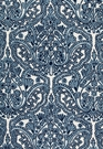 SCHUMACHER CLAREMONT CREWEL EMBROIDEREY FABRIC DELFT