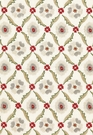 SCHUMACHER CLAREMONT EMBROIDERY FABRIC CRIMSON