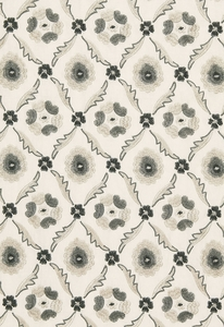 SCHUMACHER CLAREMONT EMBROIDERY FABRIC GRISAILLE