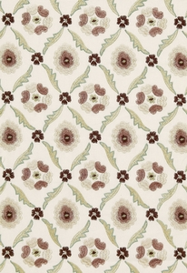 SCHUMACHER CLAREMONT EMBROIDERY FABRIC QUARTZ
