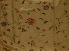 SCHUMACHER COLETTE FLORAL EMBROIDERED SILK  FABRIC ROSE