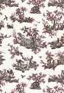 SCHUMACHER CONTINENTI EMBROIDERED FABRIC NOIR/ROUGE