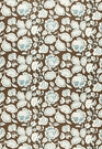 SCHUMACHER DECO FLOWER FABRIC COCOA