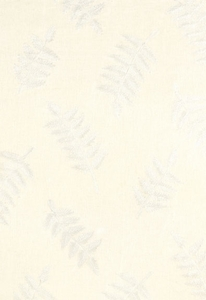 SCHUMACHER DHARMA FERN EMBROIDERY FABRIC IVORY