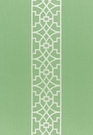 SCHUMACHER DON'T FRET EMBROIDERED LINEN FABRIC LETTUCE