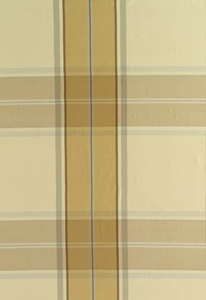 SCHUMACHER ELLIOT SILK PLAID FABRIC CAMEL