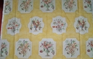 SCHUMACHER EXCLUSIVE FRENCH COUNTRY COQUILLES ET FLEURS TOILE FABRIC 6 YARDS