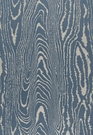 SCHUMACHER FAUX BOIS WEAVE SILK FABRIC MIDNIGHT