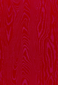 SCHUMACHER FAUX BOIS WEAVE SILK FABRIC ROUGE