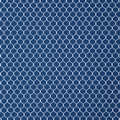SCHUMACHER FISHNET COTTON FABRIC MARINE