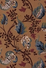 SCHUMACHER FOX HOLLOW BIRD FLORAL LEAF FABRIC DOCUMENT