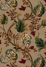 SCHUMACHER FOX HOLLOW BIRD FLORAL LEAF FABRIC FLANNEL