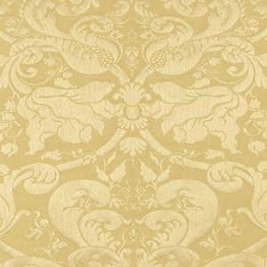 SCHUMACHER GAVOTTE BROCATELLE DAMSK FABRIC BEIGE