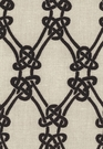 SCHUMACHER KELLY WEARSTLER GORDIAN WEAVE FABRIC EBONY ON GREIGE