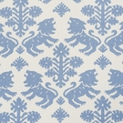 SCHUMACHER GOTHIC REGALIA LINEN COTTON FABRIC BLUE