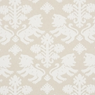 SCHUMACHER GOTHIC REGALIA LINEN COTTON FABRIC NATURAL