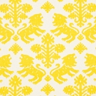 SCHUMACHER GOTHIC REGALIA LINEN COTTON FABRIC YELLOW