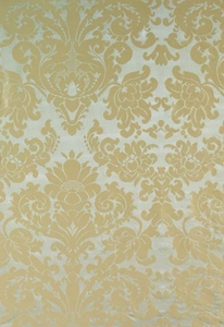 SCHUMACHER HATFIELD SILK DEMASK FABRIC MINERAL
