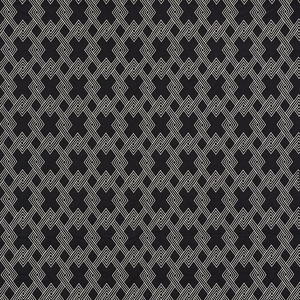 SCHUMACHER HIX EMBROIDERED FABRIC EBONY