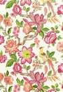 SCHUMACHER HUNTINGTON GARDENS LINEN FABRIC MULTI