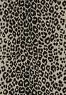 SCHUMACHER ICONIC LEOPARD BELGIUM LINEN FABRIC EBONY NATURAL
