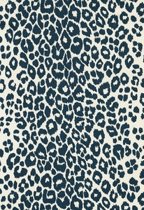 SCHUMACHER ICONIC LEOPARD BELGIUM LINEN FABRIC INK